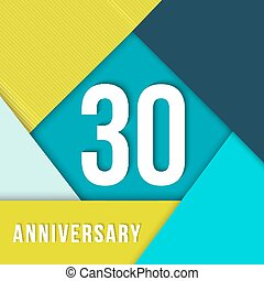 30 year anniversary material design template - 30 thirty...