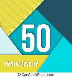 50 year anniversary material design template - 50 fifty year...