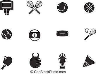 Sports Balls icons set