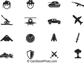Military and war icons - Military and war simply icons for...