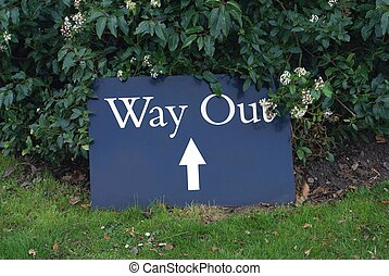 way out sign - exit