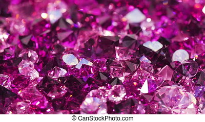 Many violet diamonds background