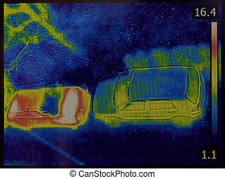 Who Came First - Thermal Imaging of Cars Night Vision...