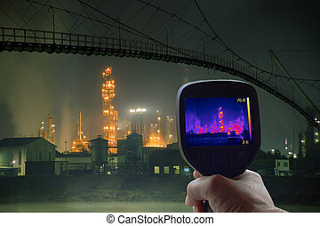 Oil Rafinery Infrared - Thermal Imaging Supervision of Oil...
