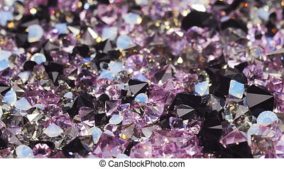 Many dark purple diamond stones