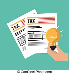 Pay taxes graphic design, vector illustration eps10