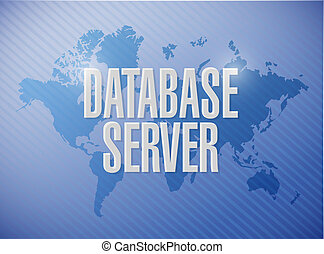 database server world map sign concept illustration design...