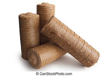 Energy wood briquettes