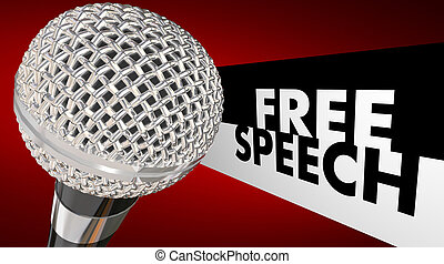 Free Speech First Amendment Right Freedom Expression...