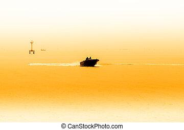 Fishermen collecting shellfish