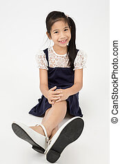 Portrait of asian cute girl with smile face