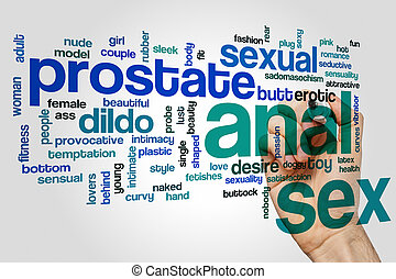 Anal sex word cloud concept - Anal sex word cloud