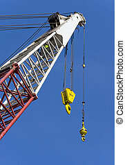 Crane on an offshore drilling platform