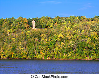 Lowden State Park Illinois - The Black Hawk Statue towering...