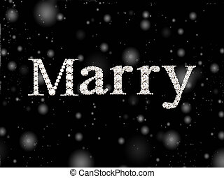 diamond words Marry - Marry