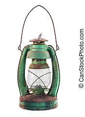 Old lantern isolated. - Old lantern isolated on white...