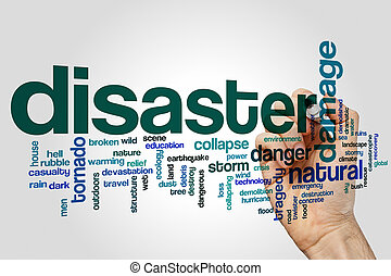 Disaster word cloud concept - Disaster word cloud