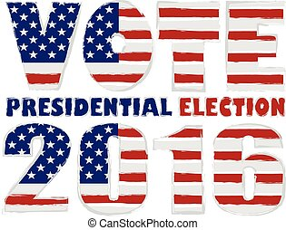 Vote 2016 USA Presidential Election Illustration