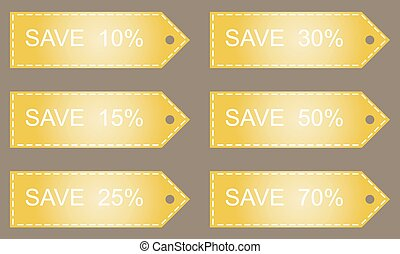Discount labels. Vector. - Discount labels. Shopping Sale...