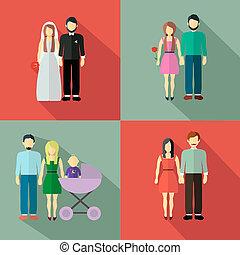 familia, figura, collection, ,