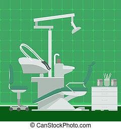 Dentist or dental office vector illustration. Dental clinic...