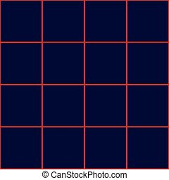 Red Grid Square Royal Blue Background