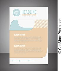 Business brochure or offer flyer design template Brochure...