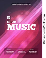 Party Flyer. Club music flyer. DJ lineup design. Vector...