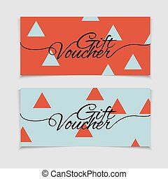 Abstract gift voucher or coupon design template. Voucher design, blank, print design, coupon. Gift voucher vector. Coupon template. Flyer design. Flyer template. Voucher abstract design. Voucher background