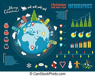 Christmas Infographics. Vector illustration, eps10. -...