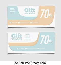 Gift voucher template with amount of discount and Contact...