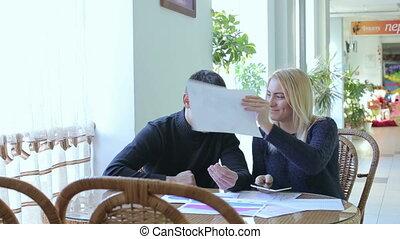 Boy and girl working joke HD