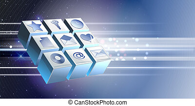 edv, technologie, Ikone