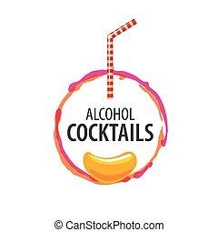 alcoholic cocktails logo - vector icons of alcoholic drinks...