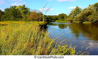Kishwaukee River of Illinois - Beautiful day along the...
