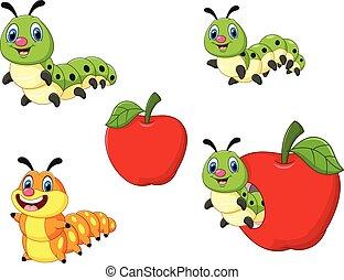 Cartoon funny Caterpillar
