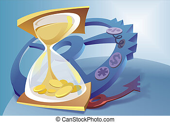 Sand Clock And The Money