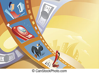 Rahmen, Geschäftsmänner,  Film