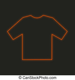 Neon Icon Isolated on a Black Background - Tshirt