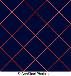 Red Grid Square Royal Blue Background - Red Grid Square...