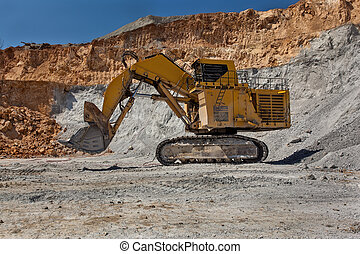 Large excavator at Open pit - Bor, Serbia - April 15,2015:...