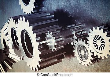 Gear mechanism - System of a mechanism gear stuck together