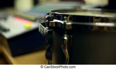 Studio sound proofing - Close up of sound proof coverage in...
