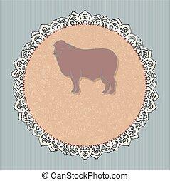 lamb - vector icon for a restaurant - lamb