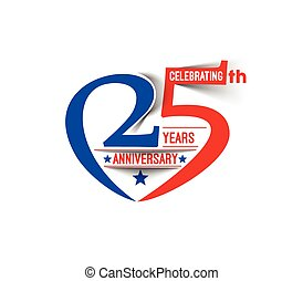 25th Years Anniversary Celebration Design.