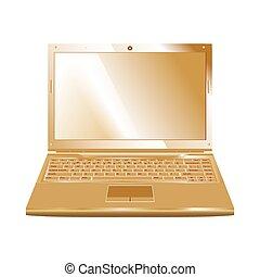 golden laptop