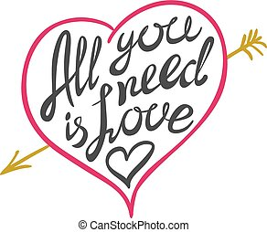 Digitally generated All you need is love vector art