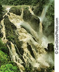 Barron Falls - The Barron Falls near Cairns in Flood,...