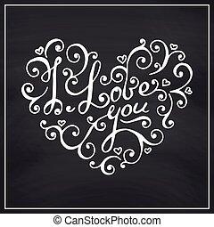 Valentines Day Blackboard background.