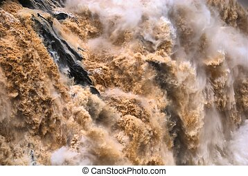 Barron Falls - CAIRNS, AUSTRALIA - JAN 22 : Flooded Barron...